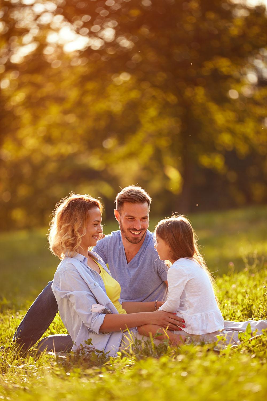 Happy Family in Kirkland, Washington